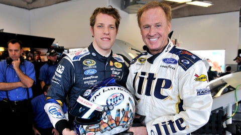 9-10 January 2014, Daytona Beach, Florida, USA Rusty Wallace and Brad Keselowski ©2014, Nigel Kinrade LAT Photo USA