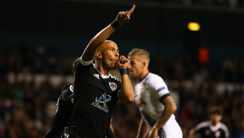 Richard Almeida puts Qarabag ahead at White Hart Lane - 2015–16 UEFA Europa League Highlights