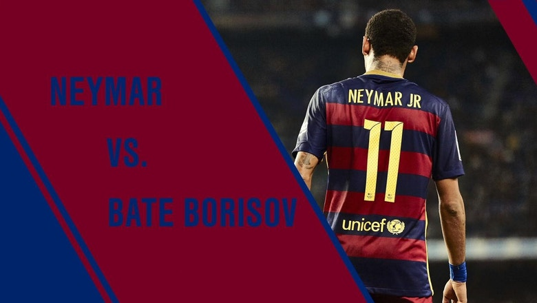 Neymar vs. BATE Borisov: All Touches | 2015–16 UEFA Champions League Highlights