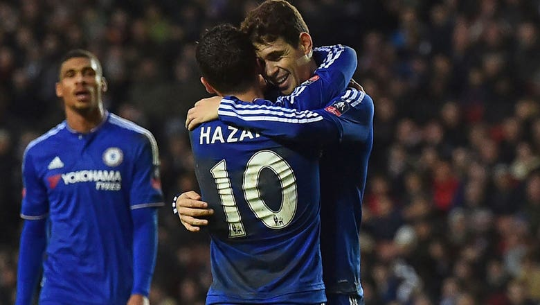 Oscar completes hat trick before halftime vs. MK Dons | 2015-16 FA Cup Highlights