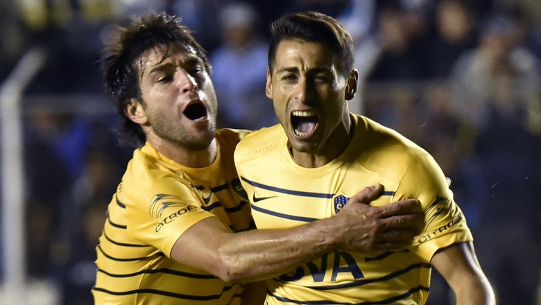 Awesome 95th-minute free kick ties the game for Boca Juniors | 2016 Copa Libertadores Highlights