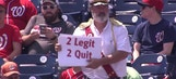 Captain Obvious crashes Nats game