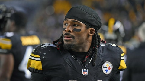 DeAngelo Williams, RB, Steelers (knee): Out