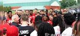 Rick Flair gives classic speech to Atlanta Falcons at training camp