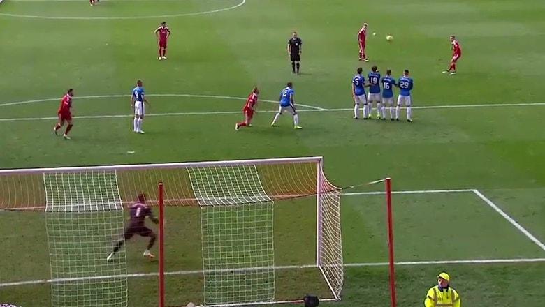 James Maddison's incredible free kick wins it vs. Rangers   2016-17 Scottish Premiership Highlights
