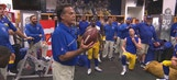 Jeff Fisher addresses his Rams after beating the Seahawks
