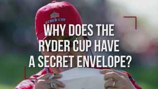 Why does the Ryder Cup have a secret envelope?