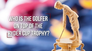 Who is the golfer on the top of Ryder Cup trophy?
