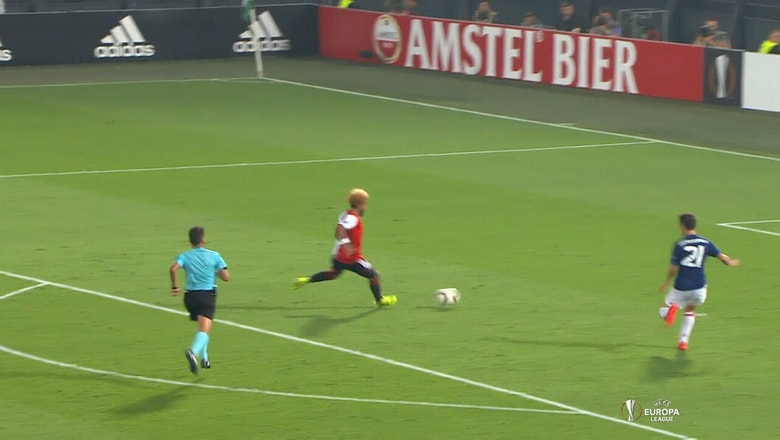 Tonny Vilhena stuns Manchester United with late goal | 2016-17 UEFA Europa League Highlights