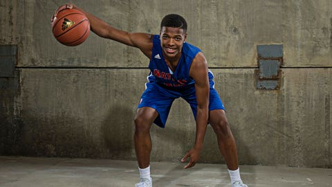 ATLANTA, GA - MAY 1: Dennis Smith Jr #15 poses for a portrait during Adidas Nations Atlanta on May 1, 2015 at the JW Marriott in Atlanta, Georgia. (Photo by Kelly Kline/Getty Images)