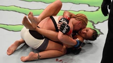 Use her Judo and jiu-jitsu
