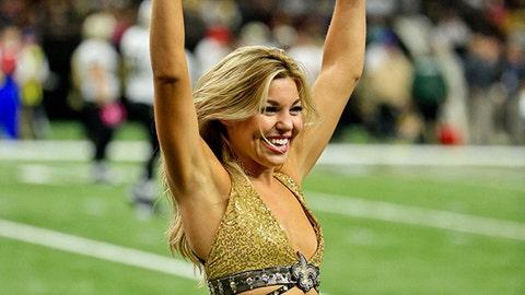 Saints cheerleader