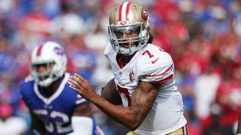 Colin Kaepernick went from protester to starter