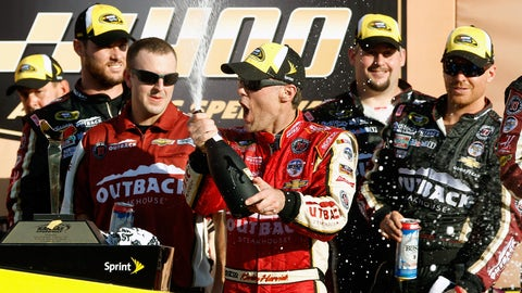 Harvick comes up big again