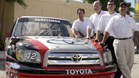 Toyota enters the world of NASCAR, 2004