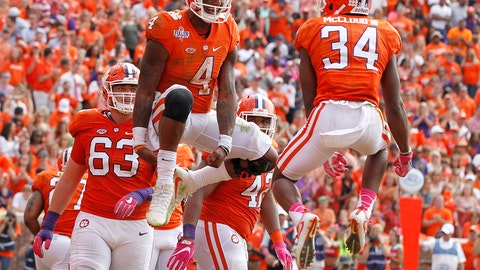 Clemson: at Florida State (Saturday)