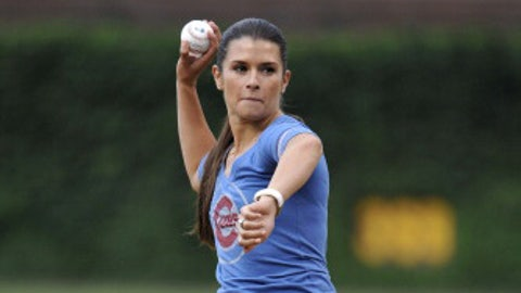 Danica on the mound