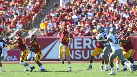 Sam Darnold airs it out
