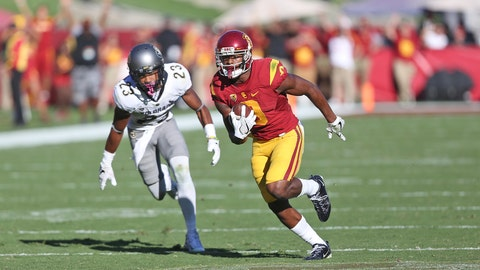JuJu Smith-Schuster races towards the end zone