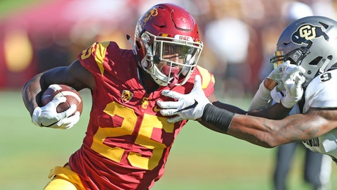 Ronald Jones fights for some tough yards