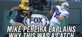 Mike Pereira explains the ruling on Cole Beasley's touchdown