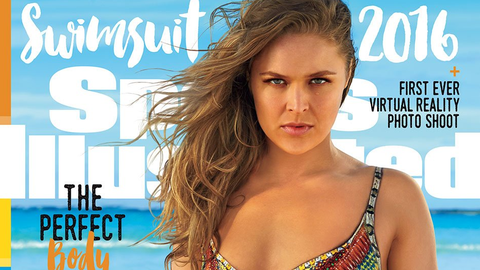 Feb. 13: Rousey is announced as a cover model for the 2016 Sports Illustrated swimsuit issue