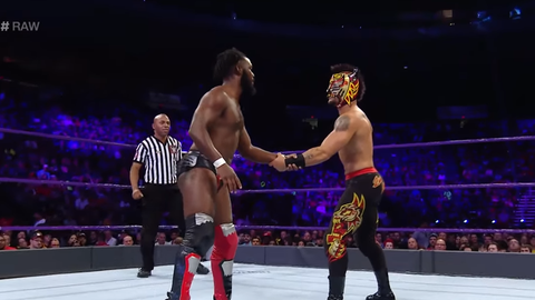 Pre-show: Cedric Alexander, Lince Dorado and Sin Cara vs. Drew Gulak, Ariya Daivari and Tony Nese in a six-man tag