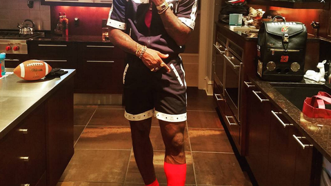 LeBron dressed as Jerome from 'Martin,' the 90's TV show that starred Martin Lawrence