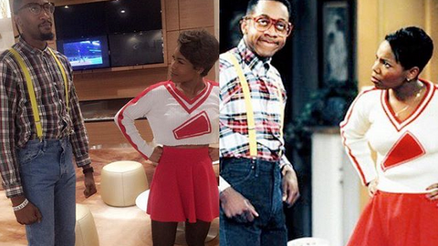 Jordan McRae and his girlfriend perfectly recreated this scene from 'Family Matters'