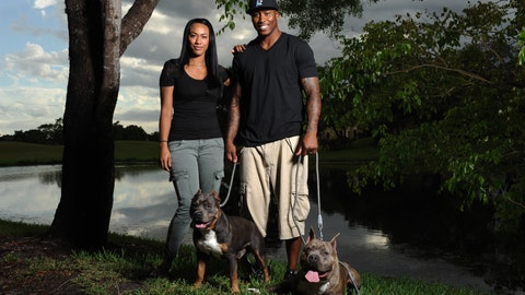 Brandon Marshall and family