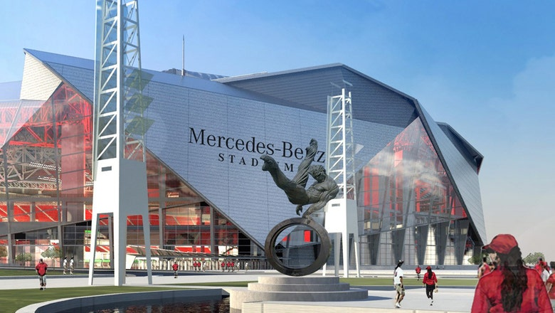 Check out how the Falcons and Atlanta United's new stadium is coming along