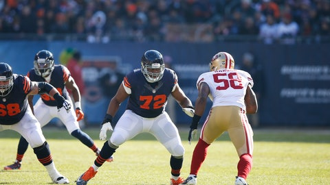 LT: Charles Leno Jr., Chicago Bears: 6-3, 305 pounds