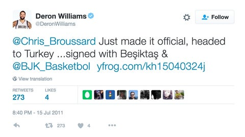Deron Williams: giving the scoop