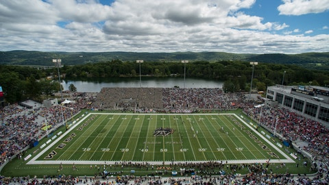 Sit on the west side of Michie Stadium during a West Point football game in late October