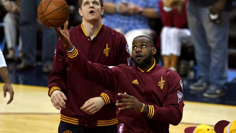 Get there early enough to see LeBron James warm-up