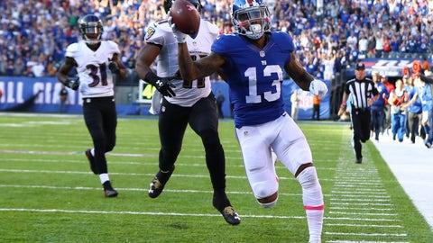 Odell Beckham Jr., WR, Giants (hip): Active