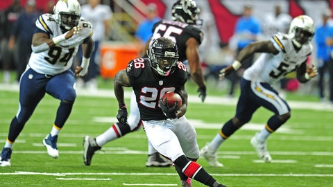 Tevin Coleman, RB, Falcons (hamstring)