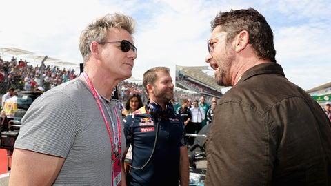 Gordan Ramsay and Gerard Butler