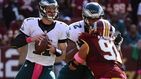 The Eagles right tackle spot goes from strength to liability