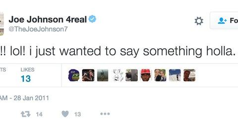 Joe Johnson just wanted to say something