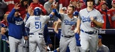 Dodgers hang on, beat Nationals in Game 5 to advance to NLCS