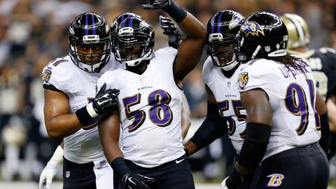 OLB/Edge: Elvis Dumervil, Baltimore Ravens: 5-11, 250 pounds