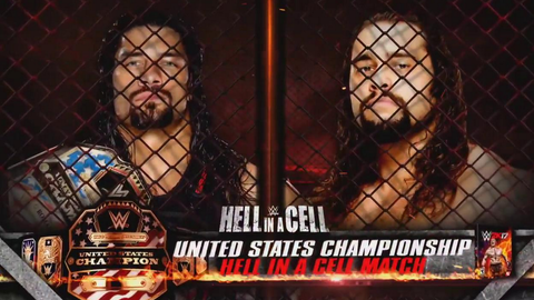 Roman Reigns vs. Rusev for the U.S. Championship inside Hell in a Cell