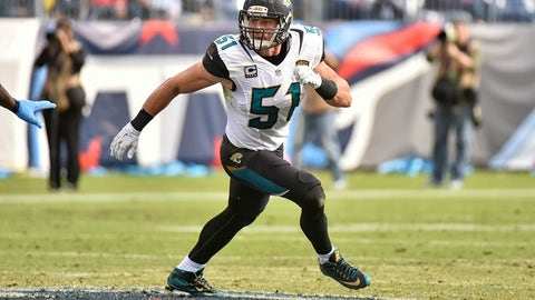 Paul Posluszny isn't happy with the Jaguars