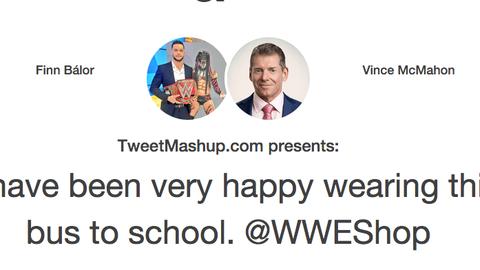 Finn Balor and Vince McMahon