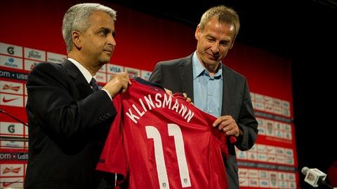 August 11, 2011: Klinsmann is hired
