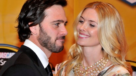 Jimmie Johnson and wife Chandra, 2011