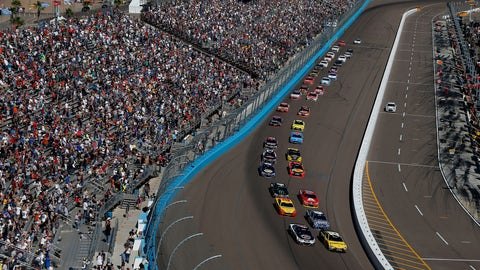 Starting lineup for the Can-Am 500 at Phoenix