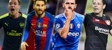 The 16 teams that advanced to the Champions League knockout stages