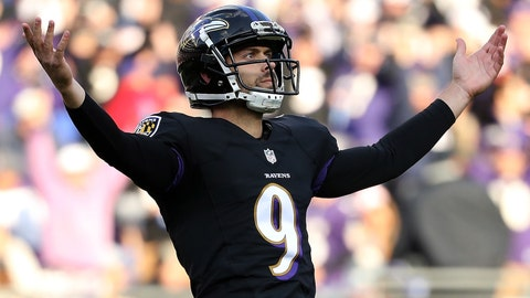 Ravens kicker Justin Tucker is 10-for-10 on field goal attempts of 50-plus yards this season (tied the NFL record) and the only FG he's missed all season came a block by New England (33-for-34).